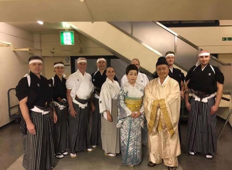 全国吟剣詩舞道大会に出演した、海外のお弟子さん方