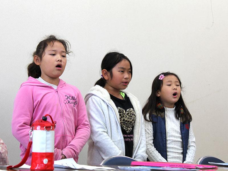 キッズ吟詠クラス練習風景