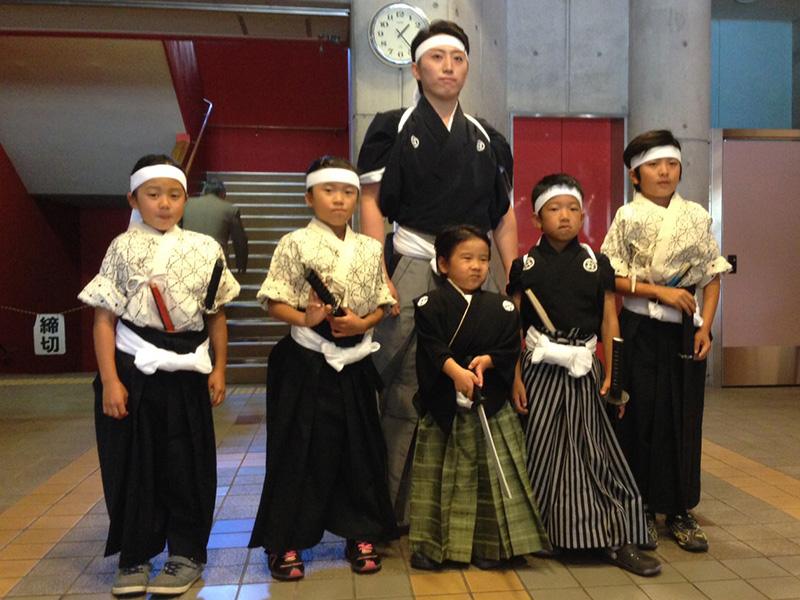 キッズ剣詩舞クラス練習風景
